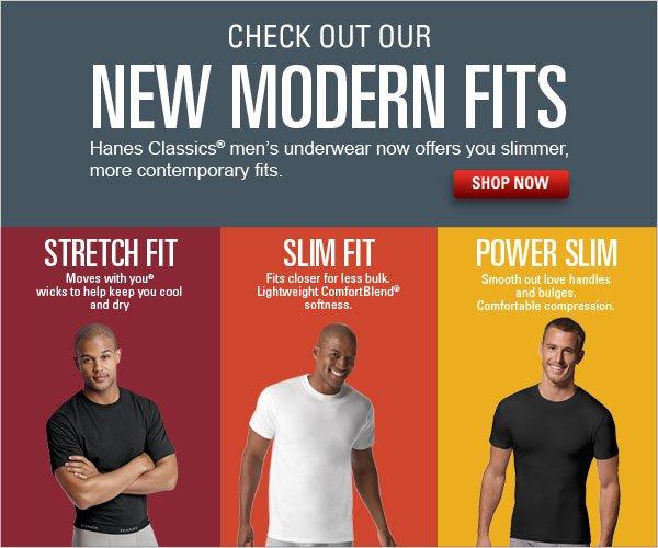 New Hanes Classics Modern Fits Undershirts for Men