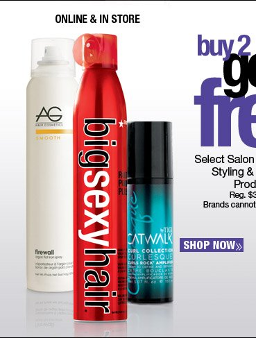 Buy 2 Get 1 FREE Select Salon Professional Styling and Finishing  Products