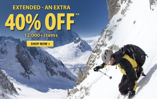 Extended - Top Secret Sale! An Extra 40% OFF over 12,000 Items!