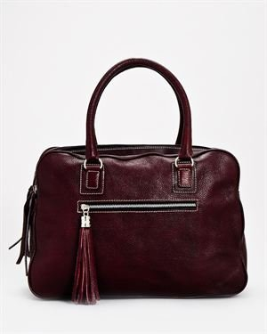 Roberto Cecconni Genuine Leather Tassel Satchel- Made in Italy