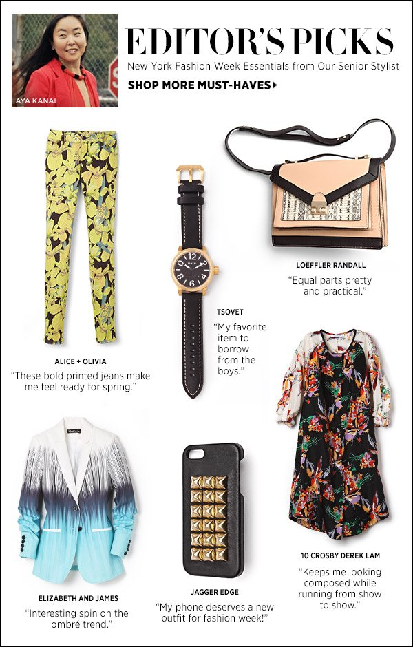 See our senior stylist's top picks and tips on dressing for New York Fashion Week. Shop Editors' Picks >>