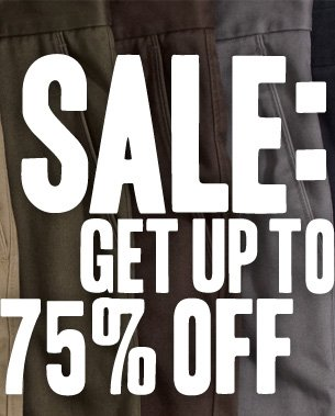 SALE: SAVE UP TO 75% OFF