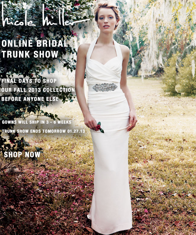 Final Days To Shop Our Online Bridal Trunk Show