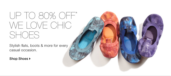 Up To 80% Off* We Love Chic Shoes