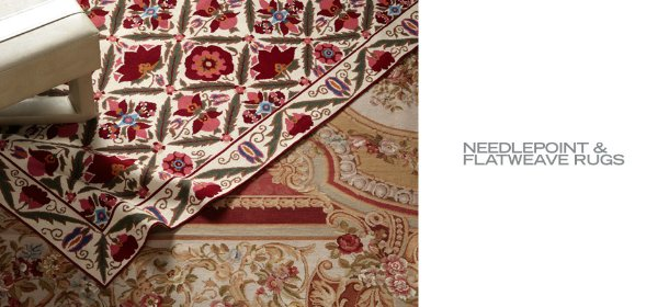 NEEDLEPOINT & FLATWEAVE RUGS, Event Ends January 30, 9:00 AM PT >