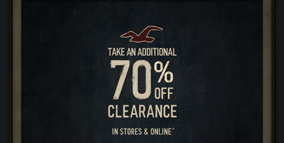 TAKE AN ADDITIONAL 70% OFF CLEARANCE