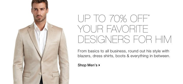 Up To 70% Off* Versace, Calvin Klein, Penguin & More