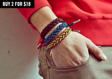 Shop Rock It: RastaClat Pattern Bracelets