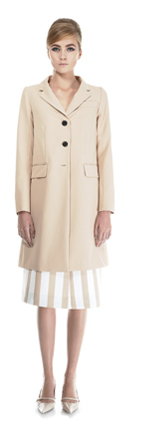 Marc Jacobs | 3 Button Coat and Stripe Skirt