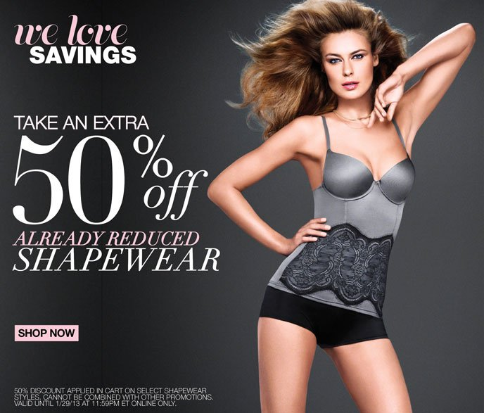 We Love Savings: Take an Extra 50% Off Already Reduced Shapewear