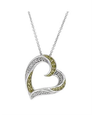 Ladies Necklace Designed In 925 Two Tone Sterling Silver