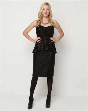 Badgley Mischka Collection Peplum Dress