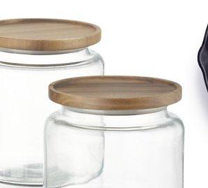 5. Montana Acacia and Glass Jars  $14.95-$19.95