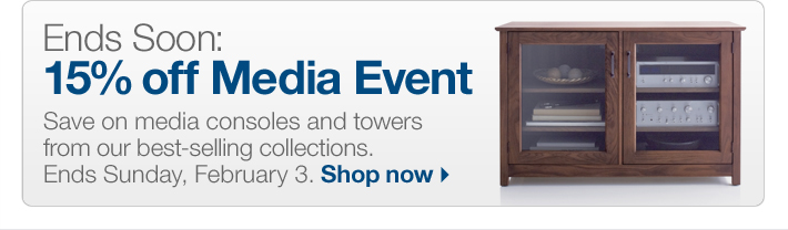 Ends Soon: 15% off Media Event