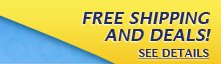 FREE SHIPPING AND DEALS! SEE DETAILS