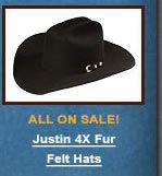 Justin 4X Fur Felt