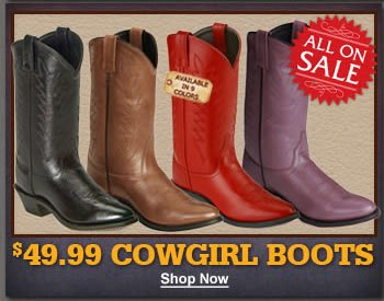 $49.99 Cowgirl Boots