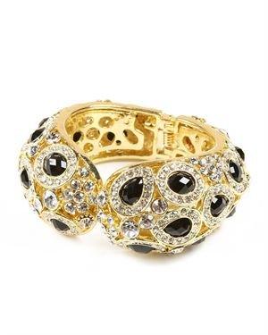 Amrita Singh Crystal & Resin Stones Embellished Culver Cuff $79