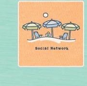 Women's Crusher Tee Social Network Umbrellas