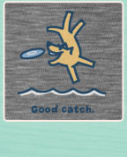 Men's Crusher Tee Good Catch Rocket