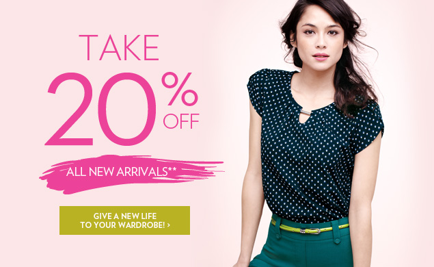 Take 20% OFF all new arrivals!**