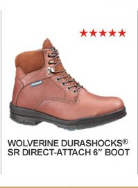 "Wolverine Durashocks SR Direct-Attach 6"" Boot"