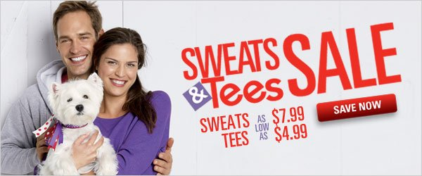 Sweats and Tees Sale