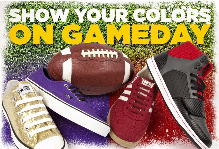 Kick some grass! Show your colors for the Big Game.