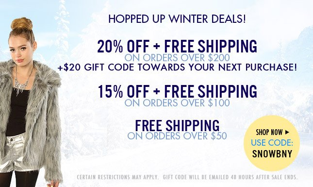 20% OFF + FREE SHIP + $20 Gift Code for next purchase!