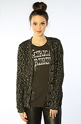The Pops Sweater Cardigan in Black White