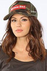 The Queen Supreme Bitch Trucker Hat in Camo