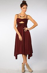 The Devin Solid Dress in Burgundy