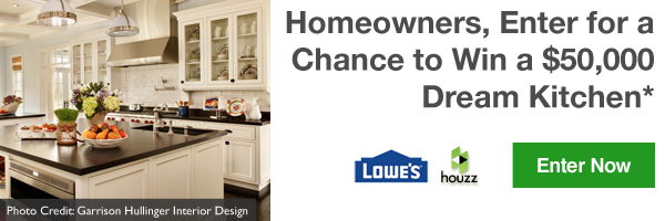Homeowners, Enter for a Chance to Win a $50,000 Dream Kitchen*