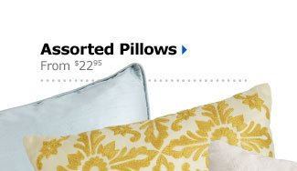 Assorted Pillows From $22.95
