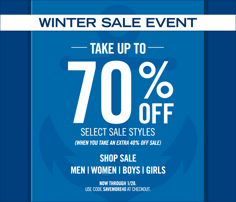 WINTER SALE EVENT! Take Up to 70% off select sale styles! Shop now