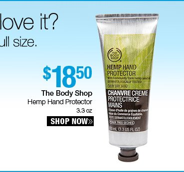 The Body Shop Hemp Hand Protector 3.3 oz. - $18.50. Shop Now.