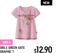 GIRLS GREEN GATE GRAPHIC T