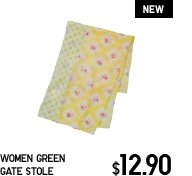 WOMEN GREEN GATE STOLE