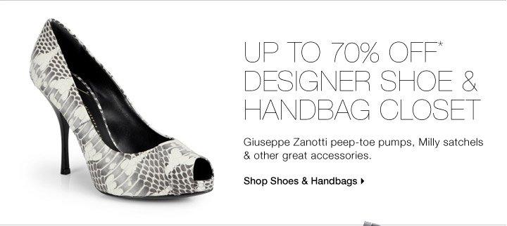 Up To 70% Off* Designer Shoe & Handbag Closet
