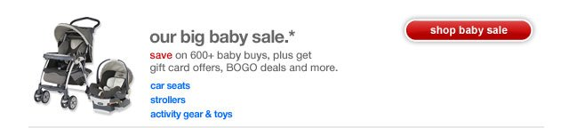 Our big baby sale.*