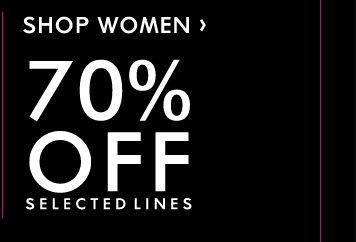 WOMEN'S 70% OFF