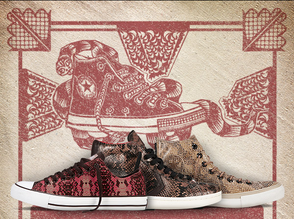 THE CONVERSE CHUCK TAYLOR ALL STAR NEW YEAR SNEAKER | YEAR OF THE SNAKE | INTELLIGENT AND GRACEFUL, THE SNAKE'S TIME HAS COME.
