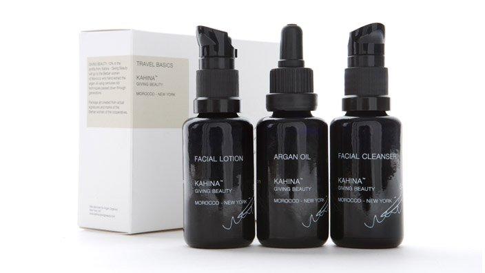 Kahina Organic Skincare Travel Set from Veronica Webb