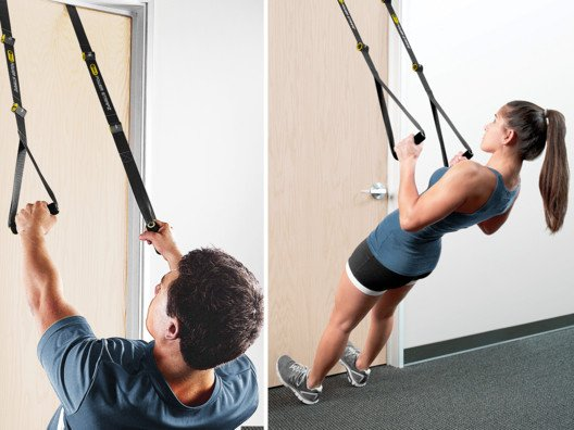 This portable suspension trainer gives you the tools to strengthen your chest, back, abdominals, arms and legs.