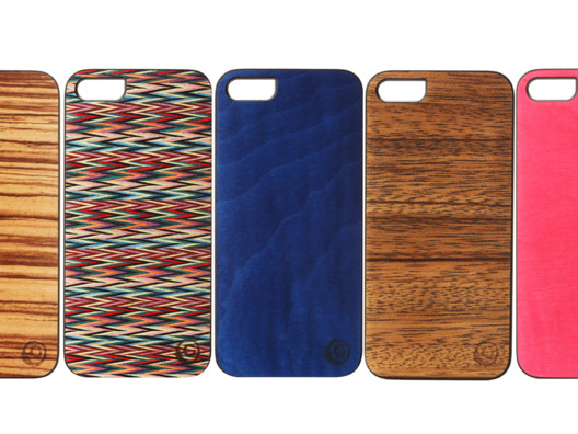 These iPhone cases are made from recycled wood and I like how you can see the actual wood grain on each one.