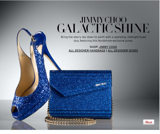 JIMMY CHOO - GALACTIC SHINE - Bring the starry sky down to earth with a sparkling, midnight-hued duo, featuring this Nordstrom-exclusive pump.