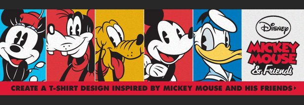 Disney Mickey Mouse and Friends Challenge - Create a t-shirt design inspired by Mickey Mouse and his friends.