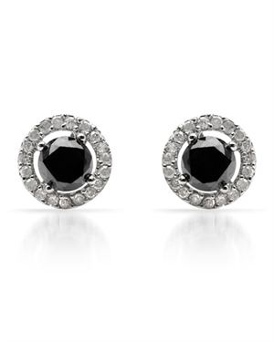 2.08 CTW Diamonds Ladies Earrings Designed In 10K White Gold