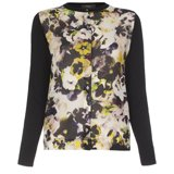 Paul Smith Knitwear - Hazy Pansies Crepe Front Cardigan
