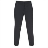 Paul Smith Trousers - Navy Drapy Drill Cropped Trousers
